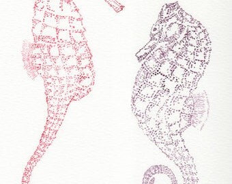 Seahorse Watercolor Giclee Print
