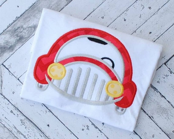 Car Front Applique embroidery Design - car Applique Design - boy Applique Design