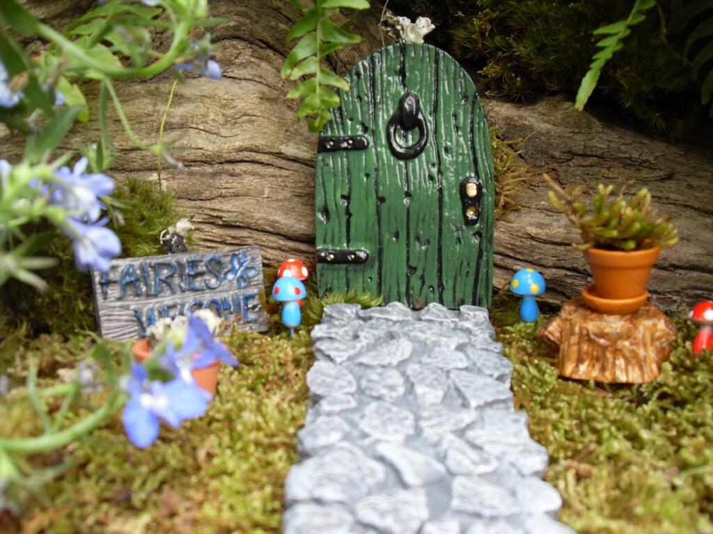 Fairy Door Fairy Garden Kit Choice of Pathway by LaurelsFairyDoors