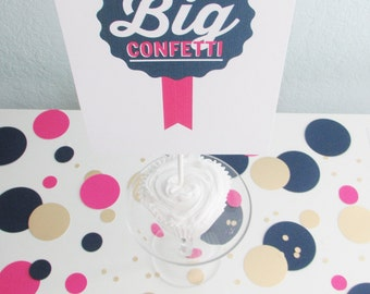 Big Confetti - add festive pops of color to party tables