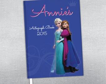 Disney princess autograph book. Elsa & Anna autograph book. Frozen.