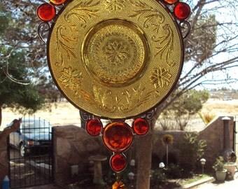 Amber Tiara Plate Suncatcher