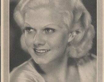 Jean Harlow Vintage 1930's Pre-print Photo