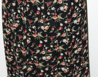 Maxi dress, Floral Chiffon, chirffon skirt, floral print, long skirt, black printed chiffon, maxi skirt,