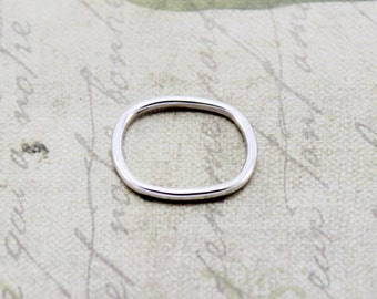 Sterling Silver Square Ring - Square Ring - Silver Ring - Geometric Ring