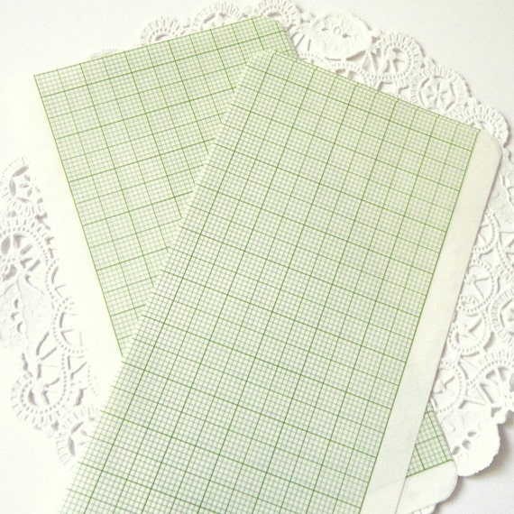 vintage graph paper  ledger paper  tracing paper  green lined