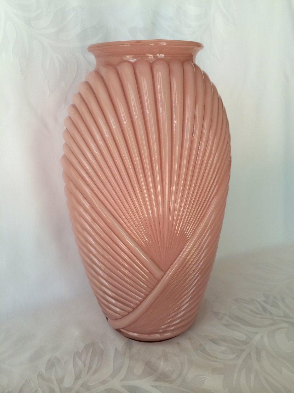 pink vase art deco vase draped vase glass vase tall vase. Black Bedroom Furniture Sets. Home Design Ideas