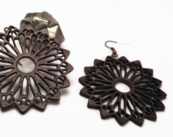 leather mandala earrings