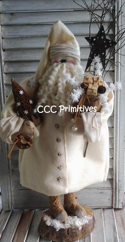 Primitive Santa Pattern Primitive Christmas Old Fashion