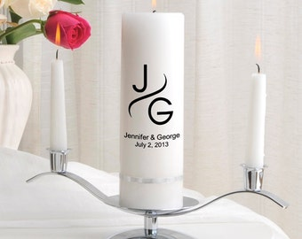Monogram Wedding Candles - Personalized Wedding Candle Sets - Unity Candles - GC330 MG1