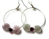 Purple earrings red earrings amethyst earrings garnet earrings hoop earrings dangle earrings gemstone earrings semi precious