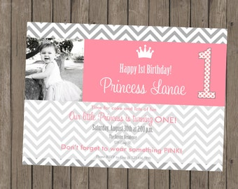 Printable Girl Birthday Invitation - Lanae #2