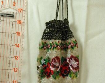 Antique beaded purse, réticule