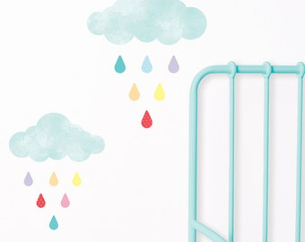 Rainy Days Fabric Wall Stickers | Wall Decals | Nursery & Kids decor