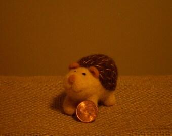 Handmade, Needle Felted, Wool Hedgehog