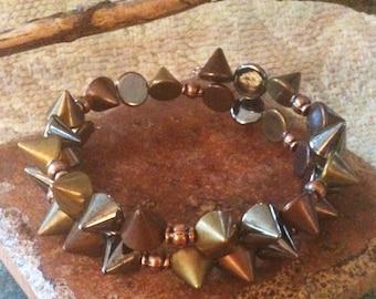 Copper Spike Bangle