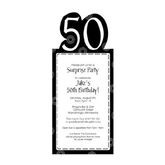 50th Birthday Party Invitation Template By LoveAndPartyPaper
