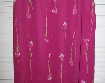 Susan Bristol dressy skirt,  8, 14, and 18  ,REDUCED TO 20.00  party, resort, raspberry with over-skirt