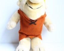 BARNEY RUBBLE TOY, Hanna Barbera Flintstones toy, vintage Barney Rubble, vintage Plush toy, vintage Stuffed Toy, Nanco plush, Nanco toy