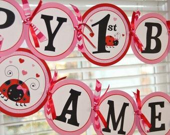 Little Lovebug Party Banner Set