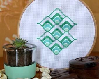 Moana - Geometric Cross Stitch Pattern - Digital Download