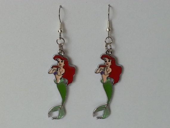 mermaid ariel earrings great gift idea by rologifts2go