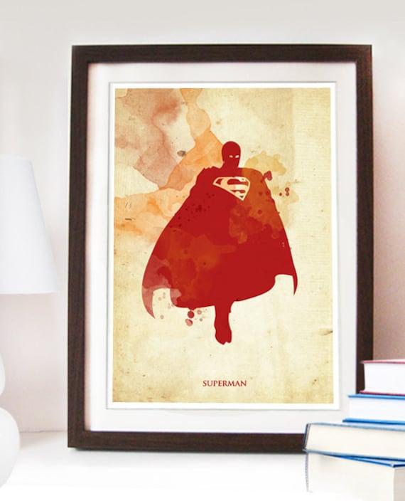 vintage superman poster digital print different by