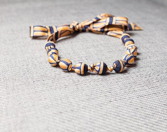 Silk fabric beaded necklace (26)