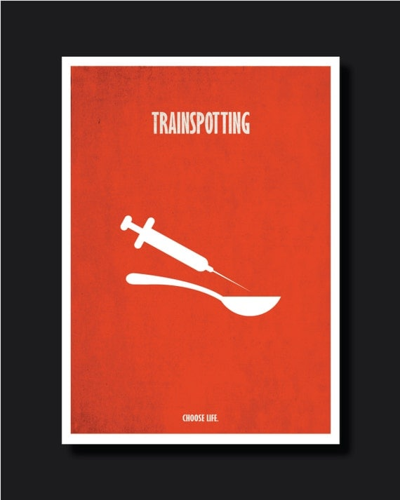 Trainspotting Poster Minimalist to Trainspotting Poster