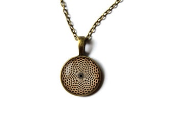 Sacred geometry jewelry Spiritual necklace Mandala pendant NW204