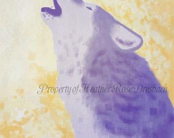 Howling Wolf Original Art Print