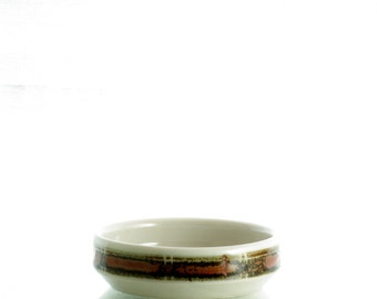 Desiree, Denmark, small serving bowl, with brown rim, handpainted.