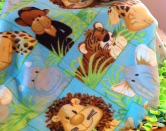 """Jungle Friends fleece blanket 32"""" x 54"""""""