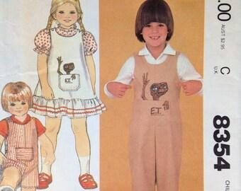 McCall's 8354 UNCUT Children's Jumper & Jumpsuit with ET Transfer