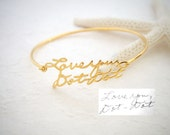 30% OFF! Signature Bangle - Handwriting Bracelet in Sterling Silver - Handwriting Bangle - Handwritten Bangle - Mother Gift - Christmas Gift