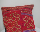 Hmong Unique Embroidered Pillow Cover : Decoration