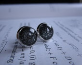 Vacuum - Earring studs - science jewelry - science earrings - galaxy jewelry - physics earrings - fake plugs - plug earrings - nebula