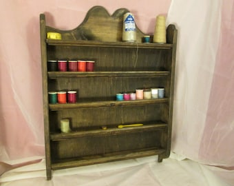 Thread Rack, Colonial Style ~ Stained. *Free Shipping*