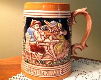 "Vintage ""Half Gallon of Ale"" beer stein from Japan"