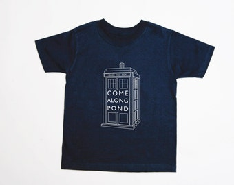 TARDIS Come Along Pond - Adult T-Shirt - MULTIPLE COLORS