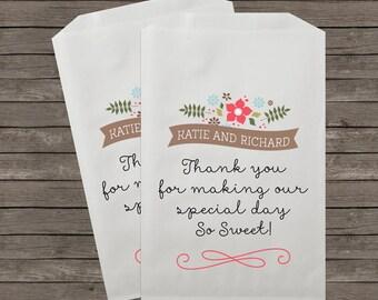Wedding Favor Bags, Candy Buffet Bags, Candy Bar Bags, Favor Bags, Rustic Wedding, Candy Bar,  Treat Bags, Custom Favor Bags, Kraft 057
