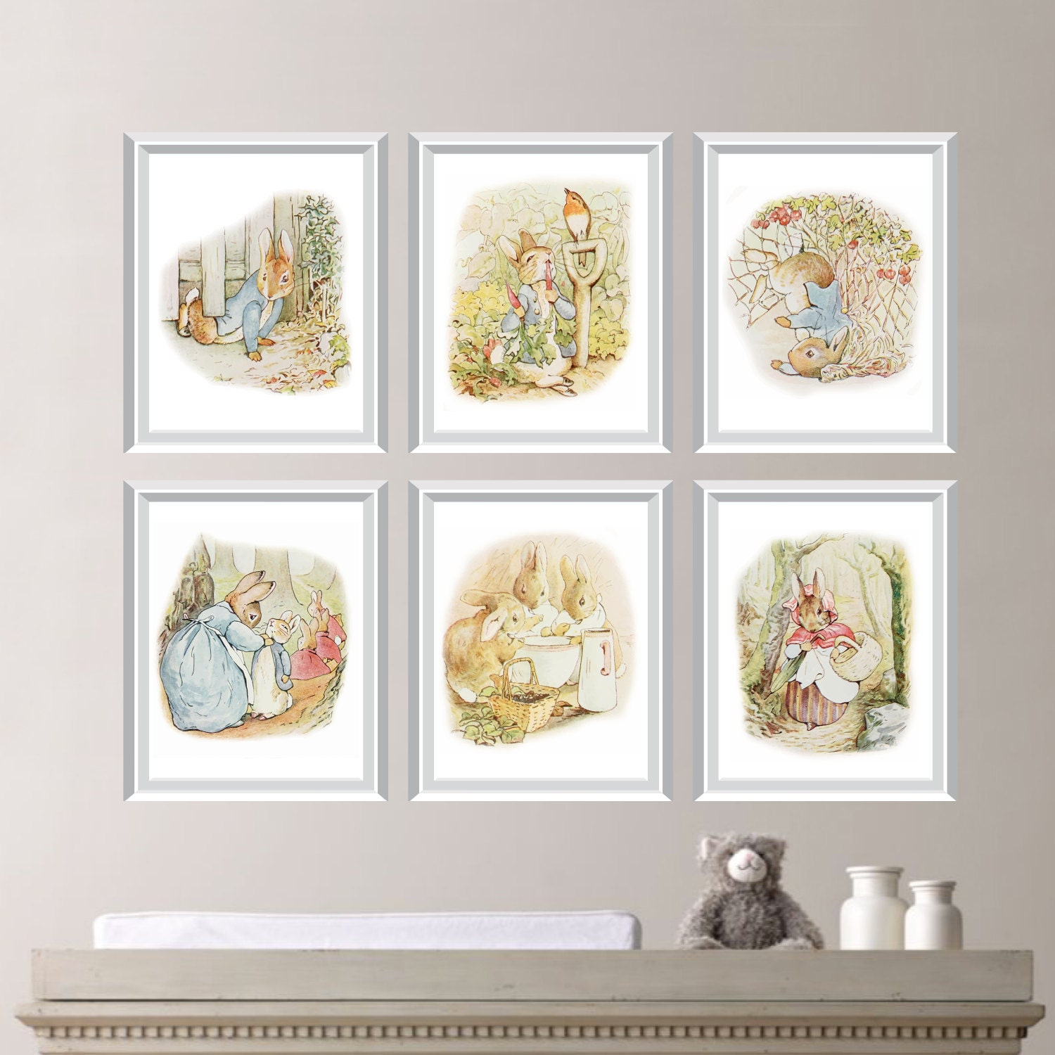 baby nursery print art peter rabbit nursery decor peter