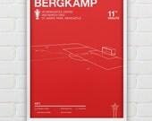 Dennis Bergkamp - Arsenal vs Newcastle Giclee Print