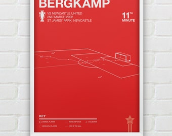 Dennis Bergkamp - Arsenal vs Newcastle Giclee Print -- [38]