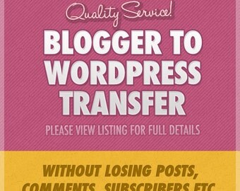 Blogger to Wordpress Transfer