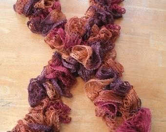 SALE**Crochet Ruffle Scarf
