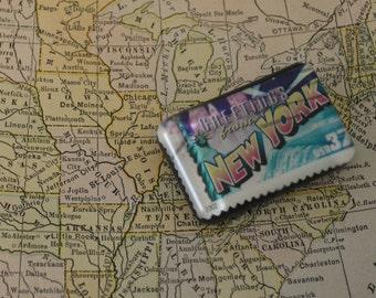 Resin New York Postage Stamp Magnet