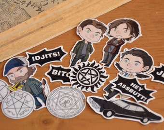 Supernatural Sticker Set