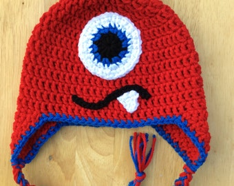 Crochet Monster Hat - Custom Made - Babies/Toddlers/Children/Youth/Teen/Adult