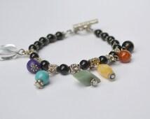 Chakra Bracelet, 7 Chakra Bracelet, Yoga Jewelry, Healing Bracelet, Multi-Colored Gems, Christmas Gifts, Stocking Stuffers
